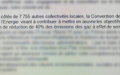 Victoire ! La ville de Wavre s'engage à signer la Convention des Maires pour le climat.